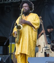 Richmond Jazz Festival brings the music to Maymont- Trombonist Kamasi Washington of Los Angeles revs up the audience.