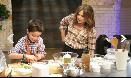 Kidtestant Nick with host Rachael Ray