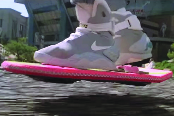 """Rapper Wiz Khalifa is claiming his use of a """"Back to the Future""""-esque hoverboard got him in big trouble with ..."""