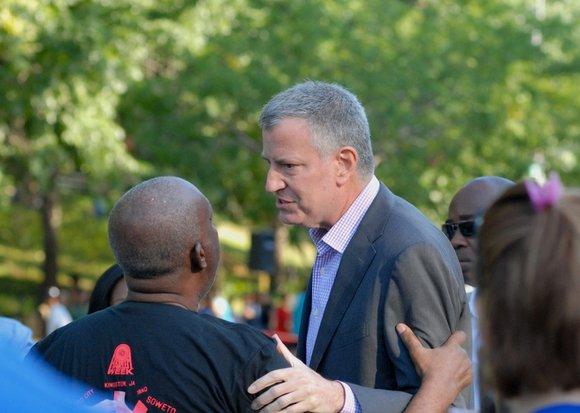 In an effort to close the wage gap for minorities and women in New York City, Mayor Bill de Blasio ...