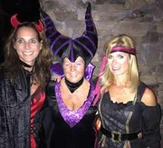 Stacie Wollman (left) shares happy memories at a Halloween party last October with the late Sandra Pyle (middle) and Marlee Roy (right). Wollman and Roy both volunteered to help raise money for the newly established Don and Sandy Pyle Charity Foundation.