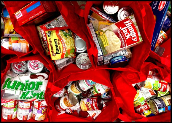Non-perishable goods is being collected at sites all over town -- and at public events -- to benefit several food ...