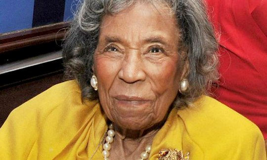 """Amelia Boynton Robinson, the civil rights activist who was almost beaten to death during the """"Bloody Sunday"""" march in 1965 ..."""
