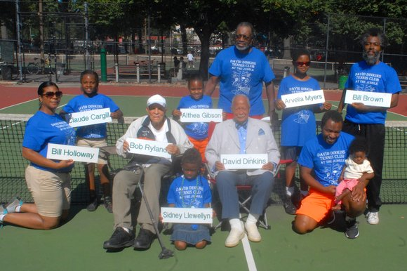 Former Mayor David Dinkins names tennis club after a tennis great.
