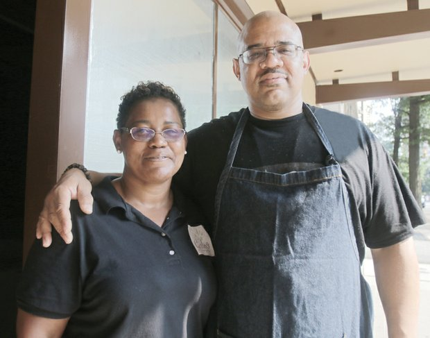 Helen Holmes and her brother, Franklin Crump, own and operate GFC catering and Miss Girlee's restaurant at 112 N. 5th St. Starting with $23 and a desire to succeed, they used social media to build a clientele.