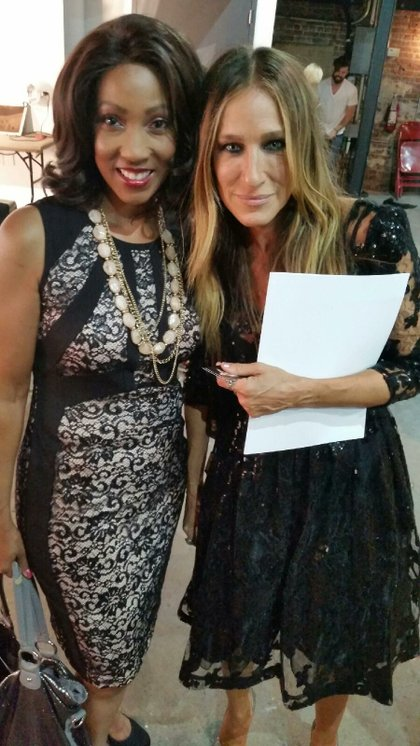 Vaughn and Actress Sarah Jessica Parker, who designed the shoes for Reese's Show