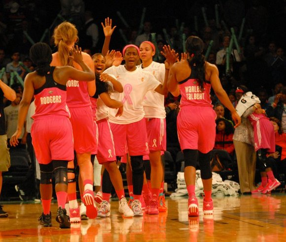 It was a fight to the finish in the first round of the WNBA playoffs for the New York Liberty, ...