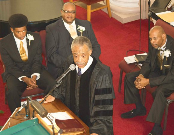 """""""And let us not be weary in well doing!"""" the Rev. Al Sharpton said. """"For in due season, we shall ..."""