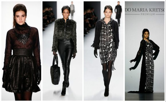 Called the German Valentino, designer Guido Maris Kretchmer's fall-winter designs showed his passion for design and fabric.