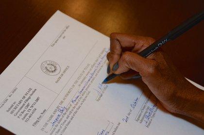 Signature of oath