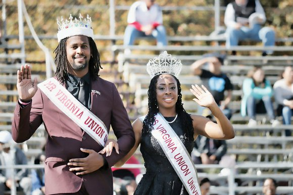 The high-stepping marching band and the crowning of Mr. Virginia Union, Jason Smart-El, and Miss Virginia Union, Khadijah Harvin, were ...
