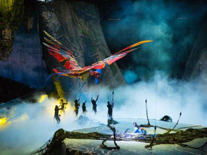 leonopteryx, the mighty red and orange predator that rules the sky in Pandora