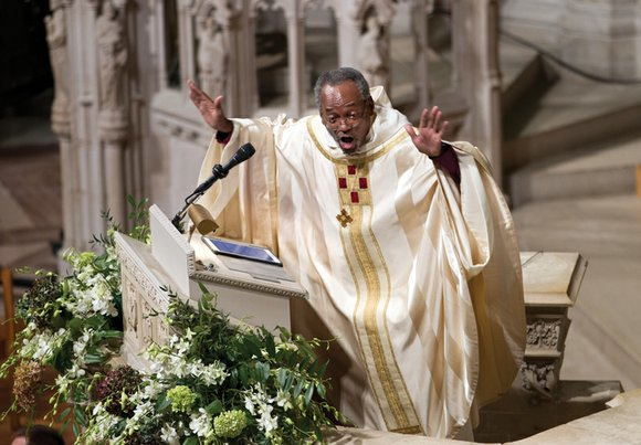 Presiding Bishop Michael Curry, installed Sunday as the first African-American leader of the U.S. Episcopal Church, urged Episcopalians to evangelize ...