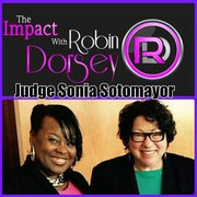 Robin Dorsey (left), and U.S. Supreme Court Justice, Sonia Sotomayor (right), at the College Bound closing ceremony at the Shakespeare Theatre ceremony in June 2015. Sotomayor is a type 1 diabetic. Dorsey is a type 2 diabetic.