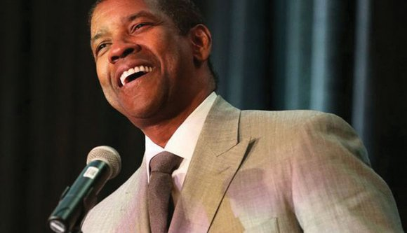 Hollywood star Denzel Washington, the son of a pastor, preached a sermon of gratefulness to hundreds of members of the ...