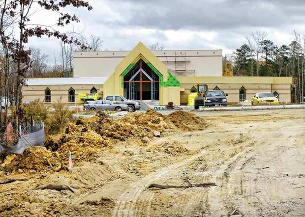 Work continues on the $5.3 million, 1,400-seat satellite sanctuary that First Baptist Church of South Richmond is developing on 23 acres in Chesterfield County. Location: 6201-11 Iron Bridge Road. The church's main sanctuary is located in the 1500 block of Decatur Street, in the city.