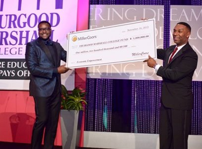 MillerCoors, founding corporate sponsor of the Thurgood Marshall College Fund, recently presented the organization with a $1.2 million donation to ...