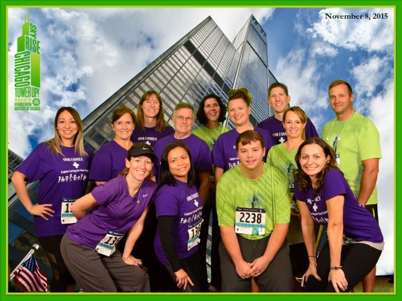 Among the members of the hospital team in the 7th annual SkyRise Chicago Challenge was Lockport resident Keith Reed, who ...