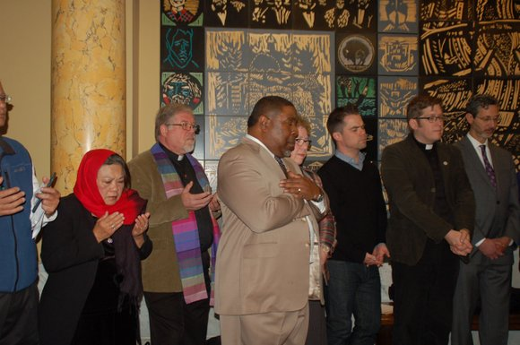 Tonight a group of religious leaders plans to come together at the Celebration Tabernacle on North Denver Avenue to support ...