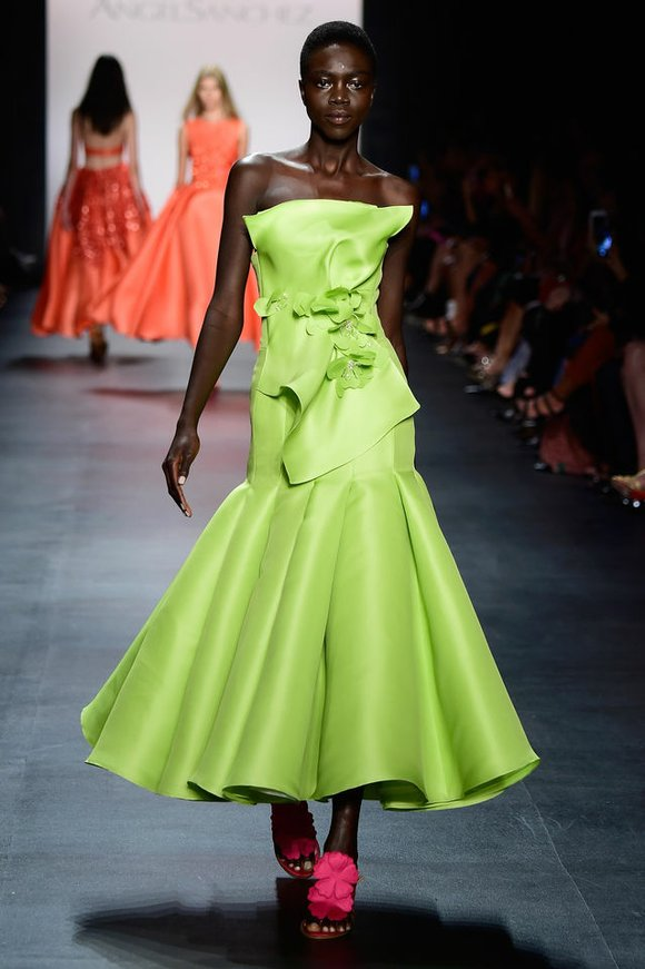 What color brings to a ball gown helps to create a gorgeous look.