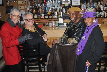 Friends at Wooden Nickel Lounge in East Baltimore