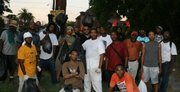 Zin leading NBUF-Houston (National Black United Front) and other volunteers in cleaning the 3rd Ward community