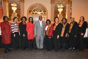 The Kings Landing Women's Service Club MLK Breakfast Committee Members (Left to right) Rev. Doretha Gilliam (deceased); Reanna Bandoo; Pauline  Watson; Lisa Robinson; Jesse Wineberry; Marge Green (Deceased); Linda Hursey; Rhonda Parker; Sybil D. Thomas; and Tracy Mcllwain. The club will host the 41st Annual Dr. Martin Luther King, Jr. Memorial Breakfast on Monday, January 18, 2016 from 8 a.m. to 10:30 a.m. at Martin's West on Dogwood Road in Baltimore
