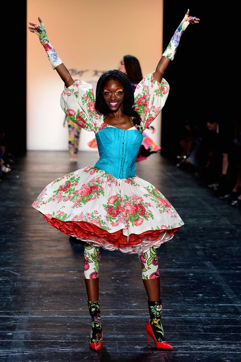 Known for celebrating exuberant, embellished and over-the-top fashions, Betsy Johnson always delivers an entertaining collection that rocks the tent. Her ...