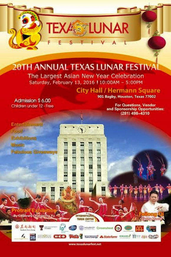 The 20th Annual Texas Lunar New Year Festival Celebration (operating under The Chinese New Year Festival Inc., a non-profit organization), ...