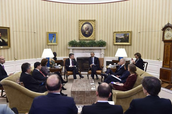 There's some outrage being expressed in D.C. this week after the visit between Colombian President Juan Manuel Santos and President ...