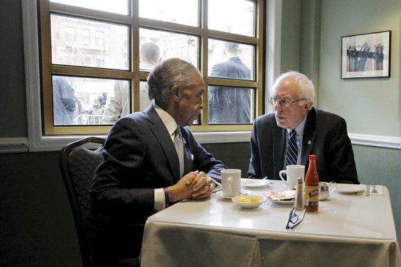 Bernie Sanders had breakfast in New York with the Rev. Al Sharpton just hours after trouncing Hillary Clinton in the ...