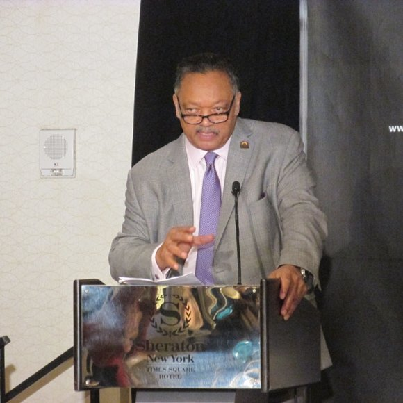 The Rev. Jesse Jackson wraps up the Rainbow PUSH Coalition and Citizenship Education Fund's 19th annual Wall Street Project Economic ...