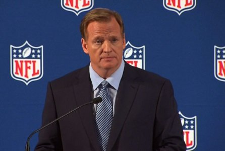 NFL commissioner Roger Goodell took a pay cut of nearly $1 million during his tumultuous 2014-15 season, according to a ...