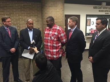 This morning, Sen. Rodney Ellis (D-Houston) joined Dewayne Brown and his attorneys in support of Dewayne's efforts to seek compensation ...