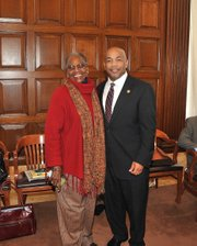 Assemblywoman Barbara M. Clark and Assembly Speaker Carl Heastie