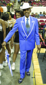 "Abraham ""Ham"" Mitchell, aka  ""Mr. CIAA,"" is dapper at the 2005 CIAA Tournament."