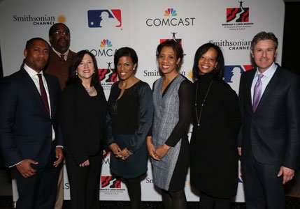 """Comcast, Smithsonian Channel and Major League Baseball partnered to present a private, premiere screening of """"The Hammer of Hank Aaron."""" ..."""