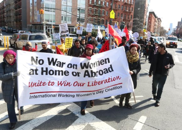 The International Working Women's Day Coalition 11th March and Rally was held Saturday, March 5 at the feet of the ...