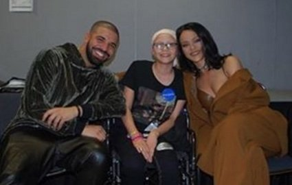 Drake and Rihanna made a Make-A-Wish Foundation cancer patient named Megan's wish come true while they were in Florida for ...
