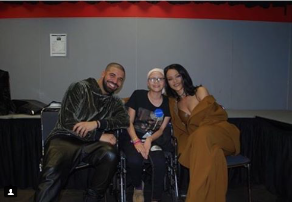 The Make-A-Wish foundation sent Drake and Rihanna to visit a devoted young fan in Miami.