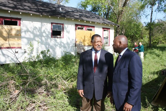 Harris County Commissioner Gene L. Locke, joined by Houston Mayor Sylvester Turner, on March 22 officially kicked off Precinct One's ...