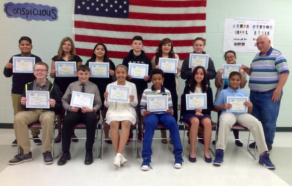 Students of the month named by the Shorewood Lions Club.
