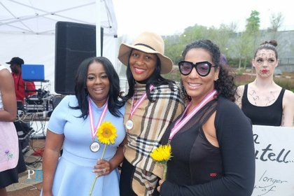 Heroine in Heels Awardees (L to R): Tammi Reed, Natalie Hall, Kysha Cameron