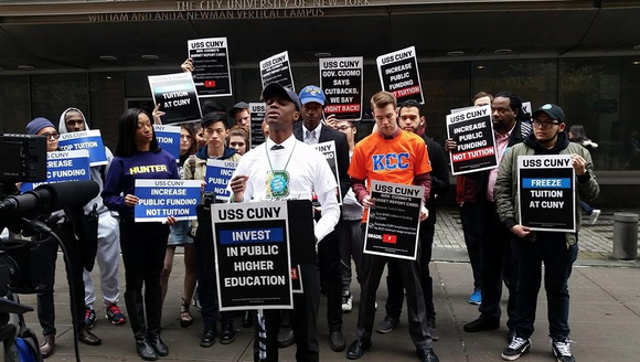 "The City University of New York may have been ""saved,"" but school officials and faculty and staff aren't letting New ..."