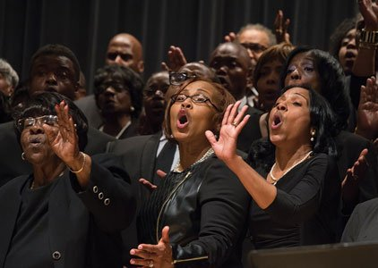 On Saturday, April 9, 2016, Peabody Conservatory students will perform with gospel choirs of Ark Church and New Shiloh Baptist ...