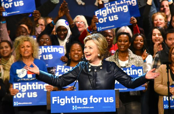 Democratic presidential candidate Hillary Clinton came to Harlem Tuesday to drum up support during the final weeks before the New ...