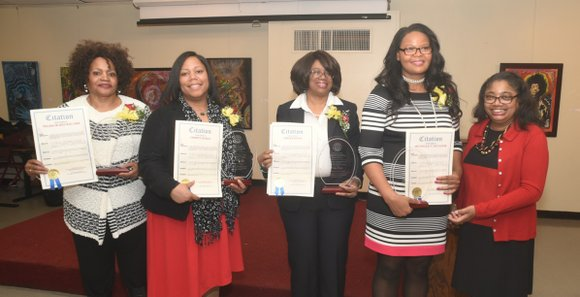 State Sen. Bill Perkins hosted an event honoring local tech-savvy women.