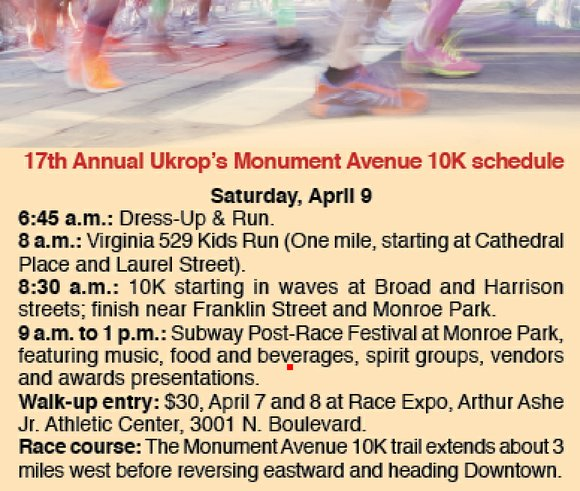 The annual Ukrop's Monument Avenue 10K is an event long on local appeal but short on local champions. Don't expect ...
