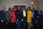 Lt. Col. Jason B. Davis along with fellow Baltimore City College alumni following his Retirement Ceremony at The Clubs at Quantico.