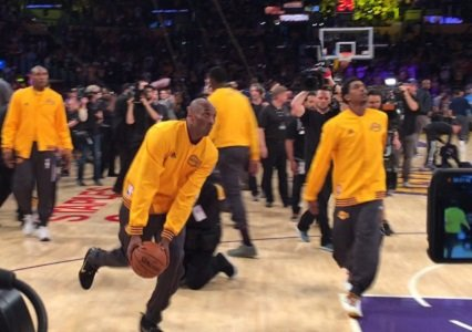 Fans final vision of Kobe Bryant in a purple and gold uniform was like many before as the Lakers' legend ...